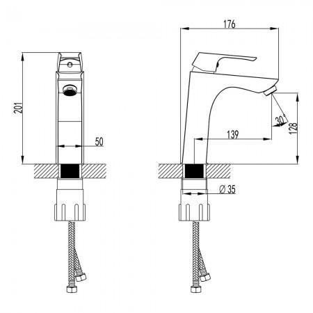 Смеситель LEMARK Unit LM4537C для раковины