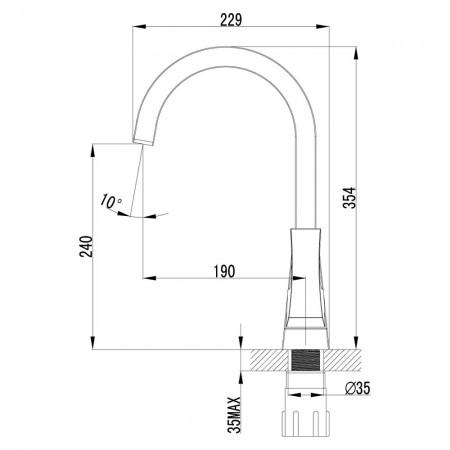 Смеситель LEMARK Unit LM4555C для кухни