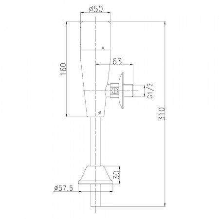 Смывное устройство LEMARK Project LM4654CE для писсуара сенсорное