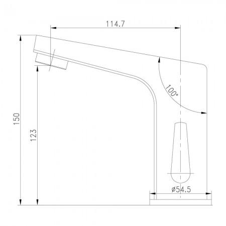 Смеситель LEMARK Project LM4655CE для раковины сенсорный