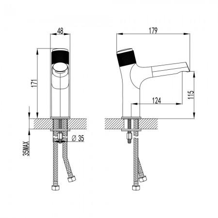 Смеситель LEMARK Project LM4676C для раковины кнопочный