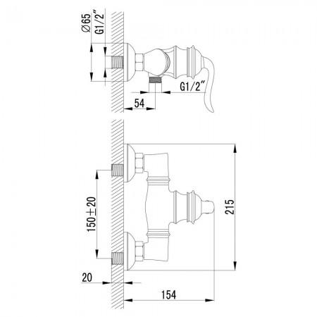 Смеситель LEMARK Brava LM4703G для душа