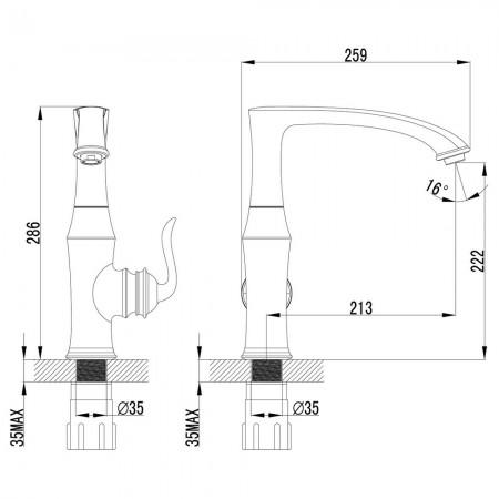 Смеситель LEMARK Brava LM4705G для кухни