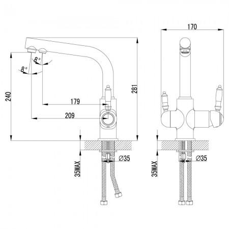 Смеситель LEMARK Villa LM4861B для кухни с подключением к фильтру