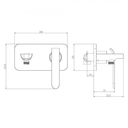 Смеситель LEMARK Melange LM4919CW с гигиеническим душем
