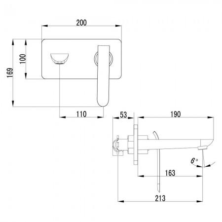 Смеситель LEMARK Melange LM4926CW для раковины