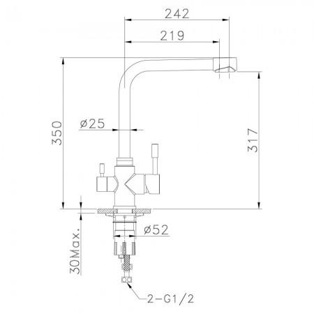 Смеситель LEMARK Expert LM5060S для кухни с подключением к фильтру