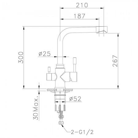 Смеситель LEMARK Expert LM5061S для кухни с подключением к фильтру
