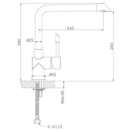 Смеситель LEMARK Expert LM5074S для кухни