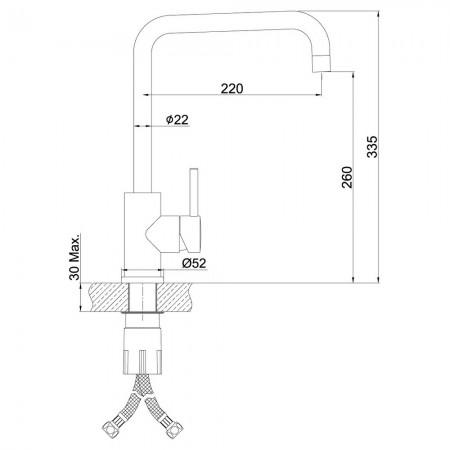 Смеситель LEMARK Expert LM5077S для кухни