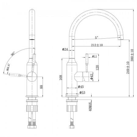 Смеситель LEMARK Expert LM5079S для кухни