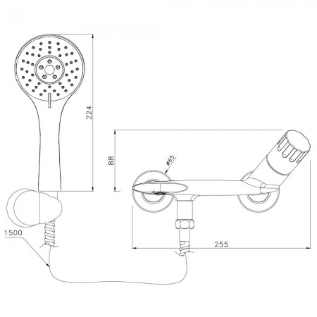 Смеситель LEMARK Wing LM5302C для ванны