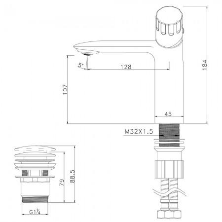 Смеситель LEMARK Wing LM5306C для раковины