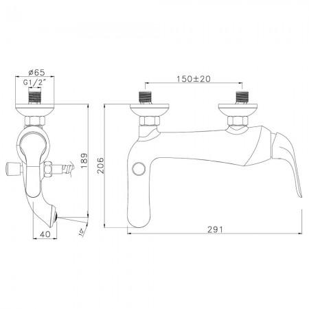 Смеситель LEMARK Swan LM5402BGC для ванны