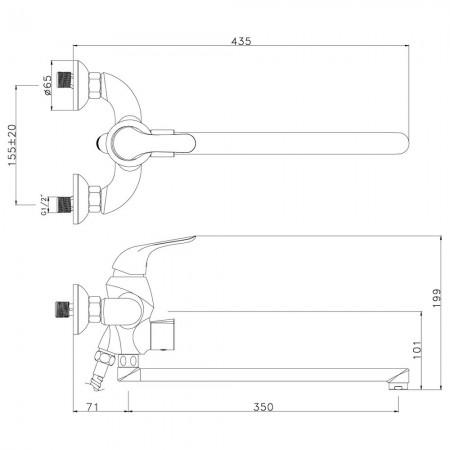Смеситель LEMARK Swan LM5451BG универсальный