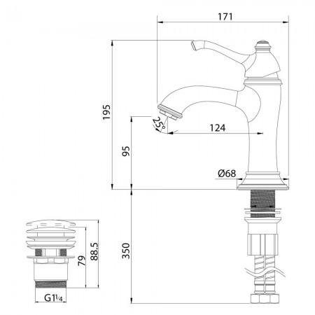 Смеситель LEMARK Greek LM5506GG для раковины