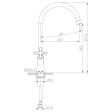 Смеситель LEMARK Duetto LM5704C для кухни