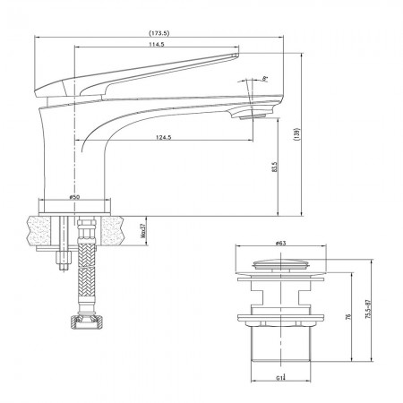 Смеситель LEMARK Allegro LM5906CW для раковины