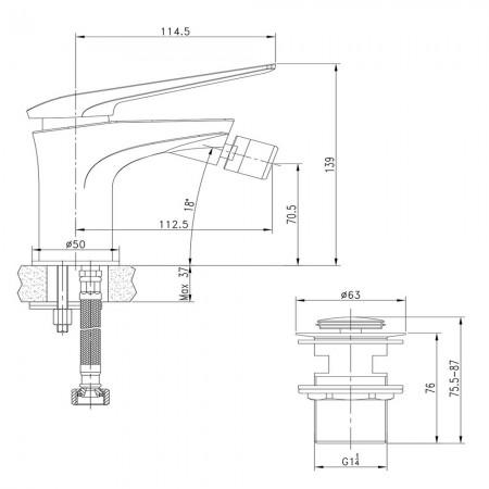 Смеситель LEMARK Allegro LM5908CW для биде