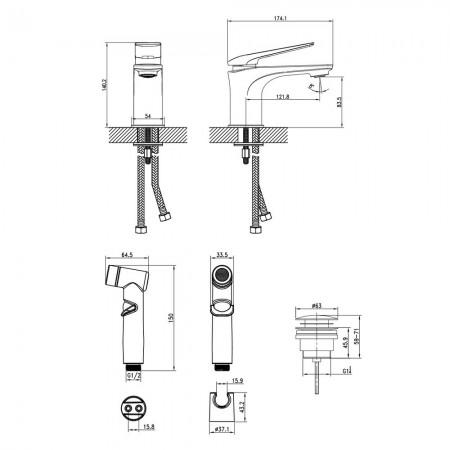 Смеситель LEMARK Allegro LM5916CW для раковины и биде