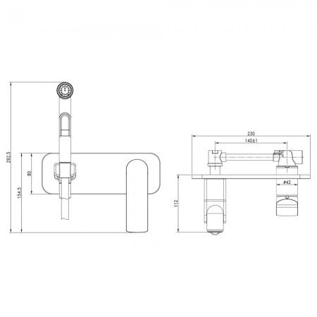 Смеситель LEMARK Allegro LM5919CW с гигиеническим душем