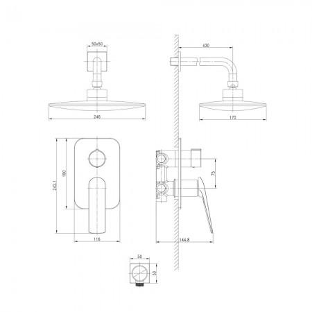 Смеситель LEMARK Allegro LM5929CW для душа встраиваемый