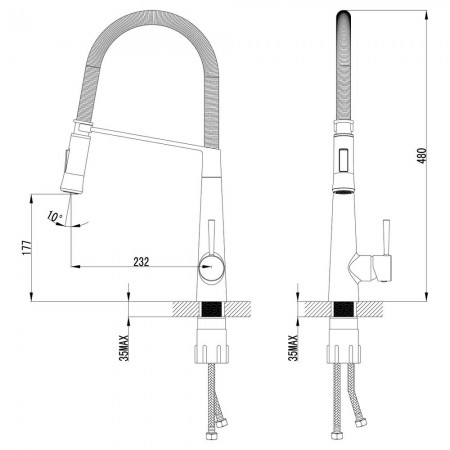 Смеситель LEMARK Soul LM6002C для кухни