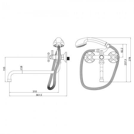 Смеситель LEMARK Promotion LM6051C для ванны