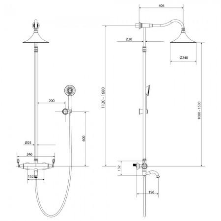 Смеситель LEMARK Prime LM6162BRG для ванны и душа