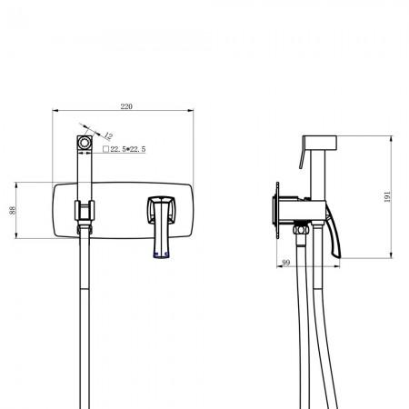 Смеситель LEMARK Nubira LM6219ORB с гигиеническим душем встраиваемый