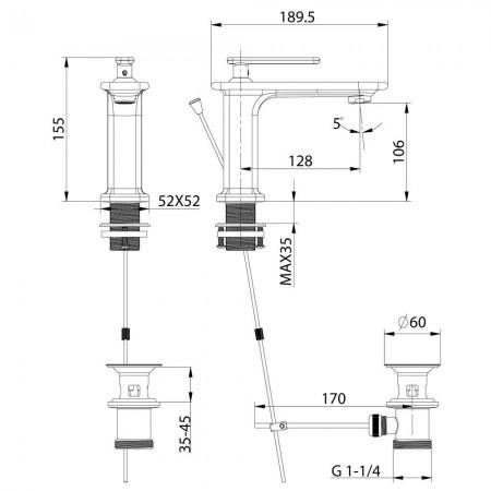 Смеситель LEMARK Mista LM6406WG для раковины