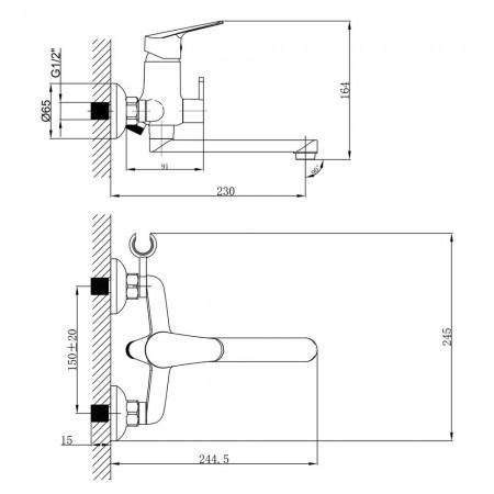 Смеситель LEMARK Partner LM6513C универсальный