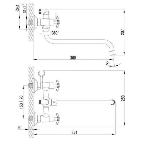 Смеситель LEMARK Partner LM6541C универсальный