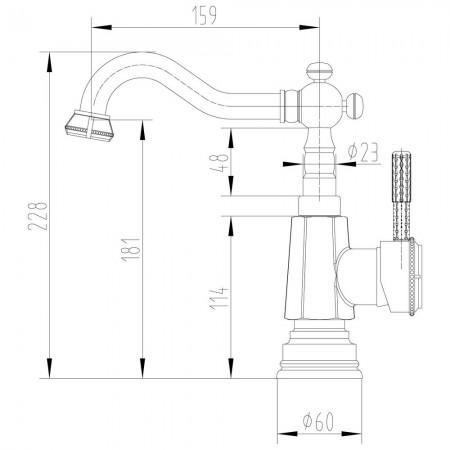 Смеситель LEMARK Jasmine LM6604B для раковины/кухни
