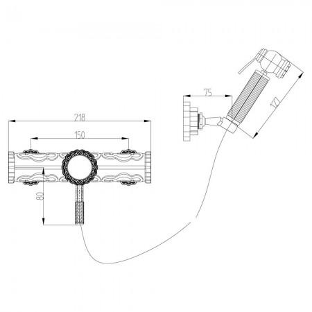 Смеситель LEMARK Jasmine LM6618B с гигиеническим душем
