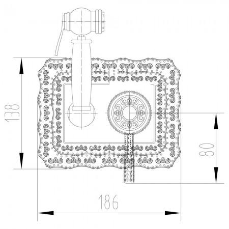 Смеситель LEMARK Jasmine LM6619B с гигиеническим душем