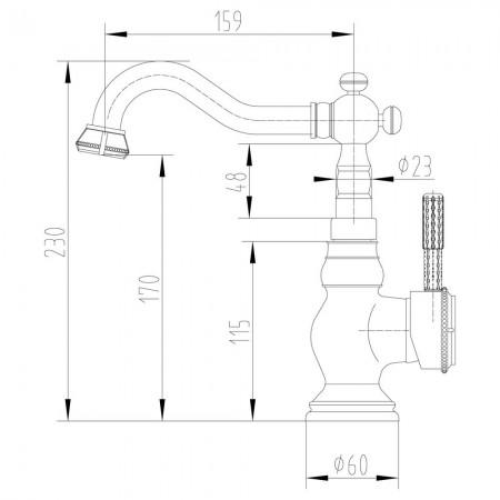 Смеситель LEMARK Jasmine LM6644B для раковины/кухни