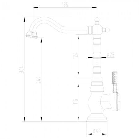 Смеситель LEMARK Jasmine LM6645B для кухни