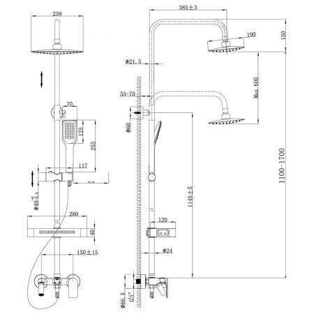 Смеситель LEMARK Tropic LM7002С для ванны и душа