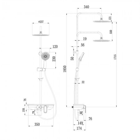 Смеситель LEMARK Tropic LM7012BL для ванны и душа