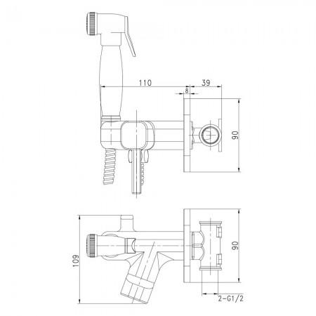 Смеситель LEMARK Solo LM7165B с гигиеническим душем
