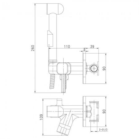Смеситель LEMARK Solo LM7165C с гигиеническим душем