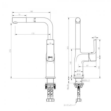 Смеситель LEMARK Ursus LM7205BL для кухни