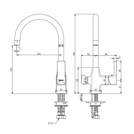 Смеситель LEMARK Ursus LM7261BL для кухни с подключением к фильтру