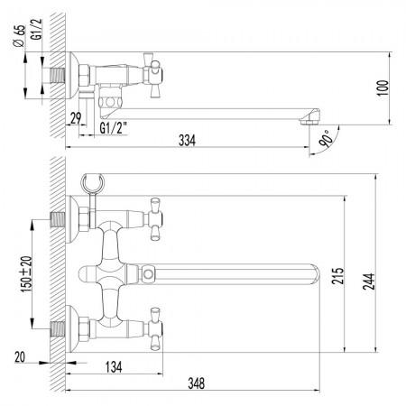 Смеситель LEMARK Contour LM7451C универсальный