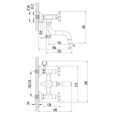 Смеситель LEMARK Practica LM7512C для ванны