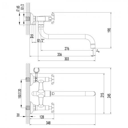 Смеситель LEMARK Practica LM7551C универсальный