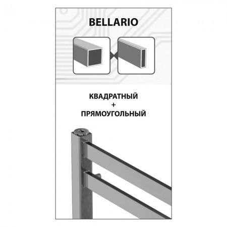 Полотенцесушитель водяной Lemark Bellario LM68810BL П10 500x800 черный