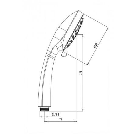 Лейка душевая LEMARK LM0125C 5-функциональная