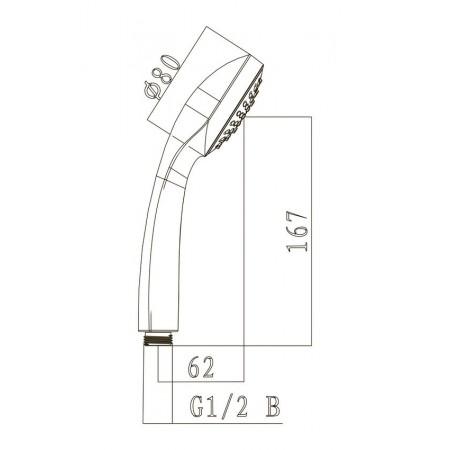 Лейка душевая LEMARK LM0211C 1-функциональная